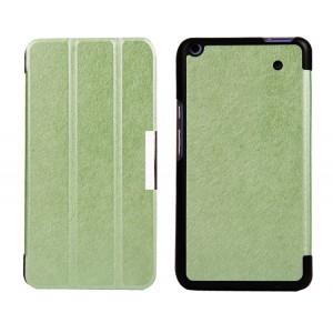 Текстурный чехол флип подставка сегментарный для Acer Iconia Talk S Зеленый