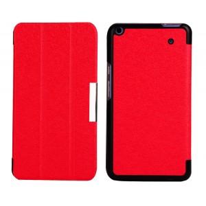 Текстурный чехол флип подставка сегментарный для Acer Iconia Talk S Красный