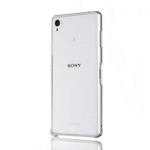 Металлический бампер для Sony Xperia C4 Белый