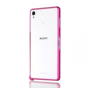 Металлический бампер для Sony Xperia C4 Пурпурный