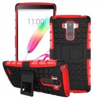 Силиконовый чехол экстрим защита для LG G4 Stylus Красный