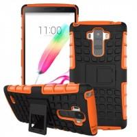 Силиконовый чехол экстрим защита для LG G4 Stylus Оранжевый