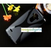 Силиконовый X чехол для LG G4 Stylus Черный