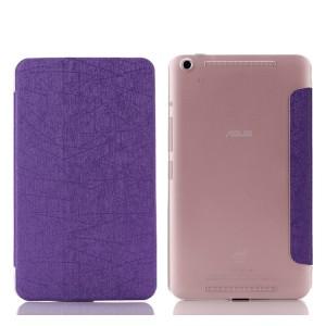 Текстурный чехол флип подставка сегментарный на пластиковой полупрозрачной основе для Lenovo Tab S8 Фиолетовый