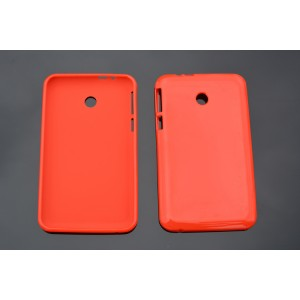 Силиконовый глянцевый непрозрачный чехол для ASUS MeMO Pad 7(ME70CX) Красный