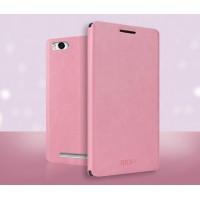 Чехол флип подставка водоотталкивающий для Xiaomi Mi4i Розовый