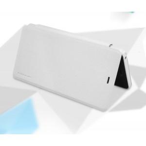 Текстурный чехол смарт флип на пластиковой основе для Xiaomi Mi4c Белый