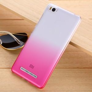 Пластиковый градиентный полупрозрачный чехол для Xiaomi Mi4c Пурпурный