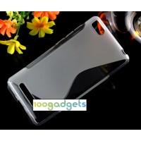 Силиконовый S чехол для Xiaomi Mi4i Серый