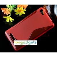 Силиконовый S чехол для Xiaomi Mi4i Красный