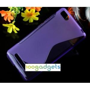 Силиконовый S чехол для Xiaomi Mi4c Фиолетовый