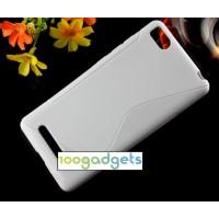 Силиконовый S чехол для Xiaomi Mi4i Белый