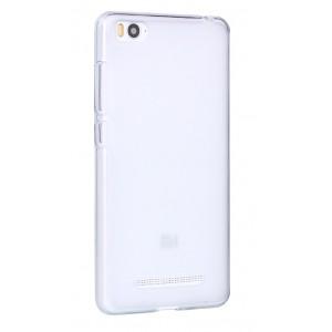 Силиконовый матовый полупрозрачный чехол для Xiaomi Mi4i Белый