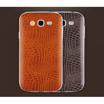 Силиконовый дизайнерский чехол с текстурой кожи для Samsung Galaxy Grand