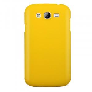 Пластиковый матовый непрозрачный чехол для Samsung Galaxy Grand Желтый