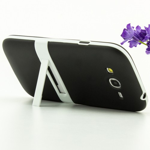 Двухкомпонентный силиконовый чехол с пластиковым каркасом-подставкой для Samsung Galaxy Grand