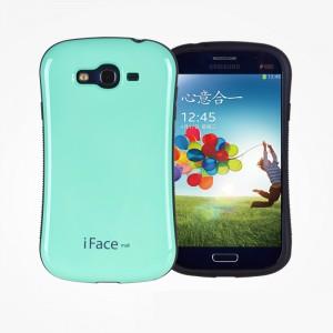 Эргономичный силиконовый чехол для Samsung Galaxy Grand Голубой