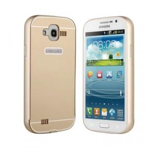 Двухкомпонентный чехол металлический бампер и поликарбонатная накладка с отверстием для лого для Samsung Galaxy Grand