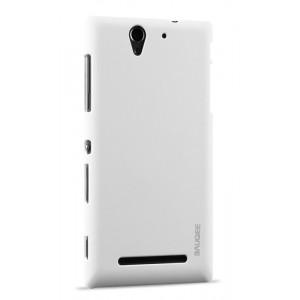 Пластиковый матовый непрозрачный чехол для Sony Xperia C3