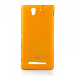 Силиконовый непрозрачный чехол для Sony Xperia C3 Желтый
