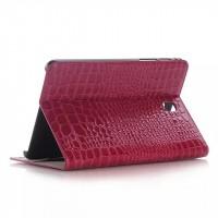 Чехол подставка серия Croco Pattern для Samsung Galaxy Tab A 8 Пурпурный