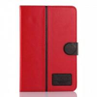 Кожаный чехол подставка с магнитной застежкой для Samsung Galaxy Tab A 8 Красный