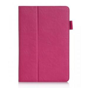 Чехол подставка с рамочной защитой и внутренними отсеками для Samsung Galaxy Tab A 8 Пурпурный