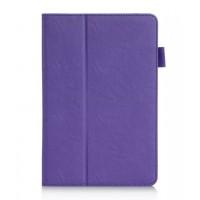 Чехол подставка с рамочной защитой и внутренними отсеками для Samsung Galaxy Tab A 8 Фиолетовый
