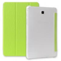 Текстурный чехол флип подставка сегментарный для Samsung Galaxy Tab A 9.7 Зеленый