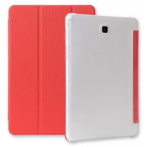 Текстурный чехол флип подставка сегментарный для Samsung Galaxy Tab A 9.7 Красный