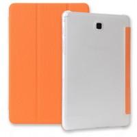 Текстурный чехол флип подставка сегментарный для Samsung Galaxy Tab A 9.7 Оранжевый