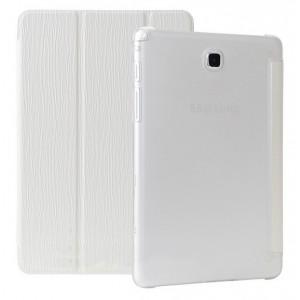 Текстурный чехол флип подставка сегментарный для Samsung Galaxy Tab A 9.7 Белый