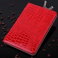 Чехол подставка серия Croco Pattern для Samsung Galaxy Tab A 9.7 Красный