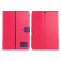 Чехол подставка с внутренними отсеками и магнитной защелкой для Samsung Galaxy Tab A 9.7 Пурпурный