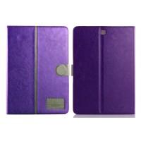Чехол подставка с внутренними отсеками и магнитной защелкой для Samsung Galaxy Tab A 9.7 Фиолетовый