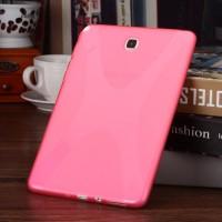 Силиконовый матовый X чехол для Samsung Galaxy Tab A 9.7 Розовый
