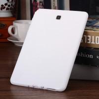 Силиконовый матовый X чехол для Samsung Galaxy Tab A 9.7 Белый