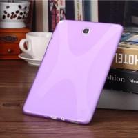 Силиконовый матовый X чехол для Samsung Galaxy Tab A 9.7 Фиолетовый