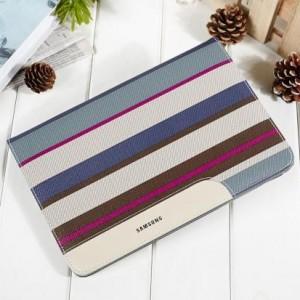 Текстурный чехол подставка с рамочной защитой и внутренними отсеками для Samsung Galaxy Tab A 9.7
