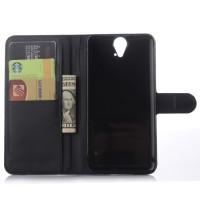 Чехол портмоне подставка с защелкой для HTC One E9+ Черный
