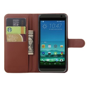 Чехол портмоне подставка с защелкой для HTC One E9+ Коричневый