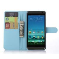 Чехол портмоне подставка с защелкой для HTC One E9+ Голубой