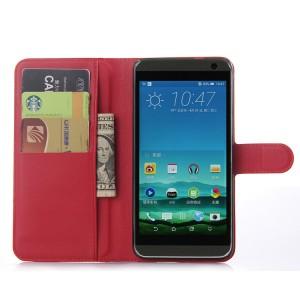 Чехол портмоне подставка с защелкой для HTC One E9+ Красный