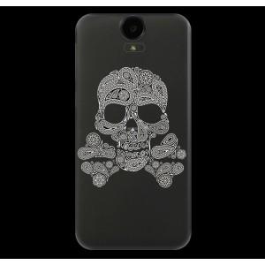 Силиконовый дизайнерский полупрозрачный чехол с принтом для HTC One E9+