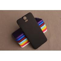 Пластиковый матовый непрозрачный чехол для HTC One E9+ Черный
