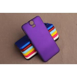Пластиковый матовый непрозрачный чехол для HTC One E9+ Фиолетовый