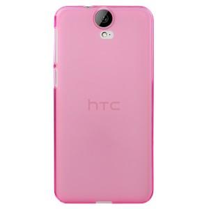 Силиконовый матовый полупрозрачный чехол для HTC One E9+ Розовый