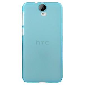 Силиконовый матовый полупрозрачный чехол для HTC One E9+ Голубой