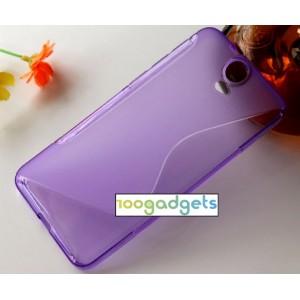 Силиконовый S чехол для HTC One E9+ Фиолетовый