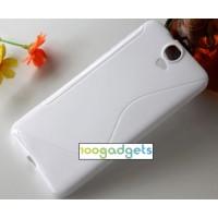 Силиконовый S чехол для HTC One E9+ Белый